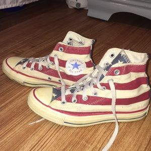 770b1a6acfeb Converse Shoes - American flag converse made distressed